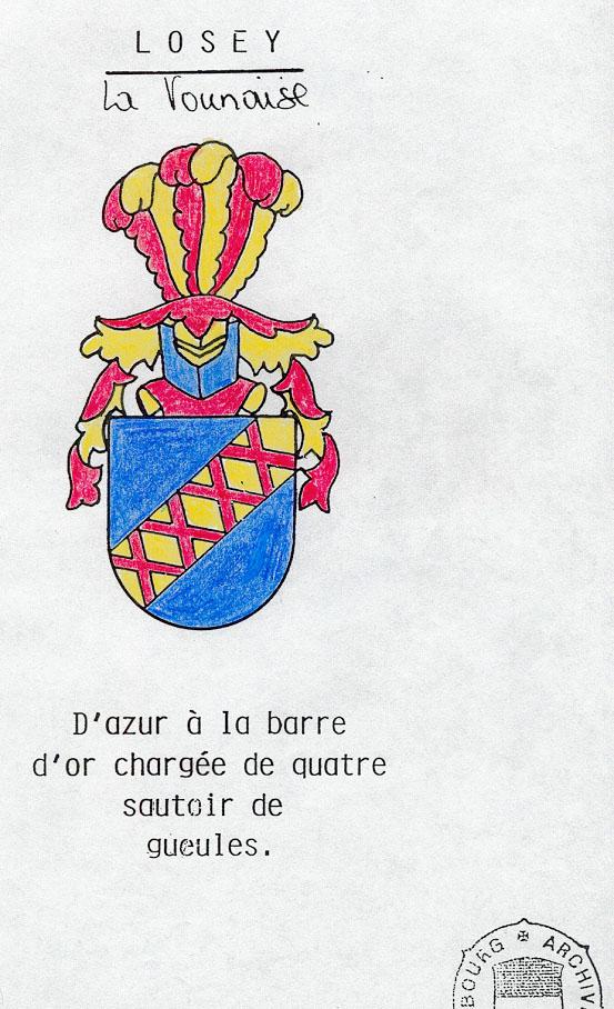 Armoiries  des Losey de Suisse